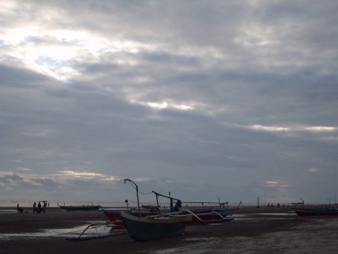The boats on the beach