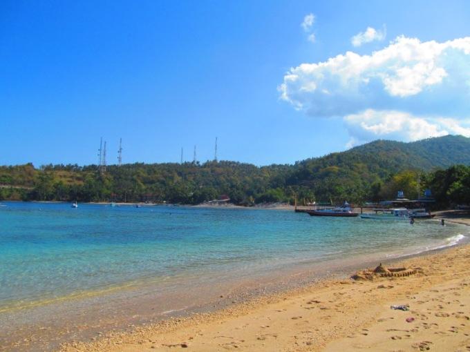 The beautiful Senggigi Beach